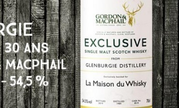 Glenburgie - 1984/2014 - 30yo - Cask 8510 - 54,5% - Gordon & MacPhail for LMDW