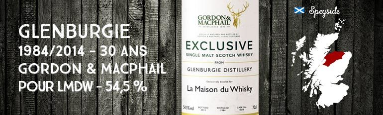 Glenburgie – 1984/2014 – 30yo – Cask 8510 – 54,5% – Gordon & MacPhail for LMDW