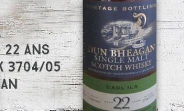 Caol Ila - 1990/2012 - 22 yo - 48% - casks 3704/3705 - Dun Bheagan