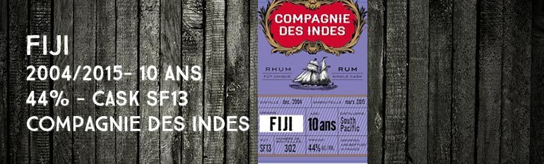 Fiji – South Pacific – 2004/2015 – 10yo – 44% – Cask SF13 – Compagnie Des Indes – Fiji
