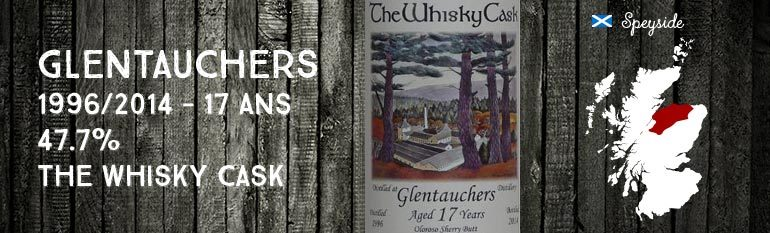 Glentauchers – 1996/2014 – 17yo – 47,7% – The Whisky Cask