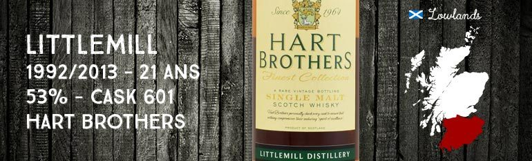 Littlemill – 1992/2013 – 21yo – 53% – Cask 601 – Hart Brothers for The Whisky Cask