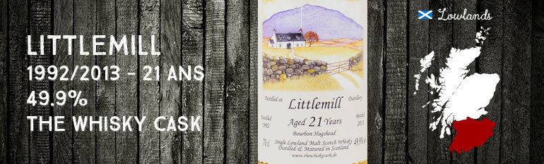 Littlemill – 1992/2013 – 21yo – 49,9% – The Whisky Cask