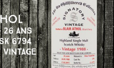 Blair Athol - 1988/2015 - 26yo - 58,2% - Cask 6794 - Signatory Vintage for The Whisky Fair