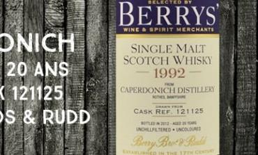 Caperdonich - 1992/2012 - 20yo - 46% - Cask 121125 - Berry Bros & Rudd
