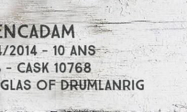Glencadam - 2004/2014 - 10yo - 46% - Cask 10768 - Douglas of Drumlanrig