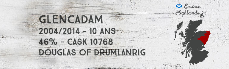 Glencadam – 2004/2014 – 10yo – 46% – Cask 10768 – Douglas of Drumlanrig