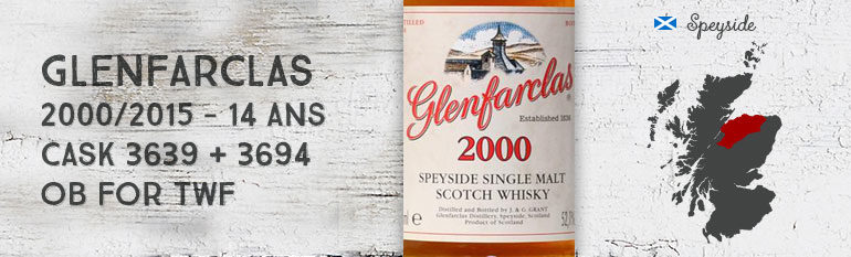 Glenfarclas – 2000/2015 – 14yo – 52,1% – Cask 3639+3694 – OB for The Whisky Fair