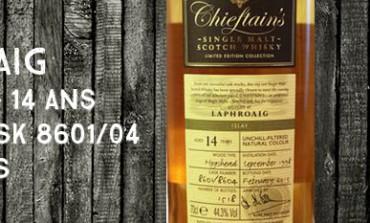 Laphroaig - 1998/2013 - 14yo - 44,3% - Casks 8601/8604 - Ian MacLeod - Chieftain's