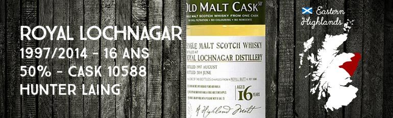 Royal Lochnagar – 1997/2014 – 16yo – 50% – Cask HL10588 – Hunter Laing – Old Malt Cask