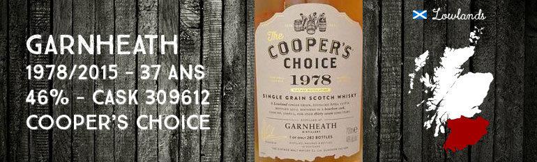 Garnheath – 1978/2015 – 37yo – 46% – Cask  309612 –  Cooper's Choice