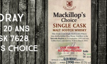 Glen Moray - 1990/2014 - 23yo - 57,7% - Cask 7628 -  MacKillop's Choice
