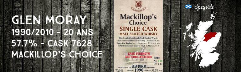 Glen Moray – 1990/2014 – 23yo – 57,7% – Cask 7628 –  MacKillop's Choice