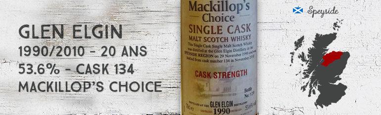 Glen Elgin – 1990/2010 – 20yo – 53,6% – Cask 134 – MacKillop's Choice