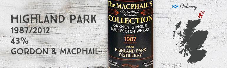 Highland Park – 1987/2012 – 43% – Gordon & MacPhail