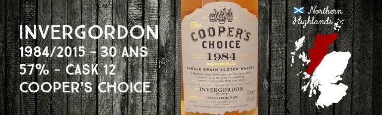 Invergordon – 1984/2015 – 30yo – 57% – Cask 12 – Cooper's Choice