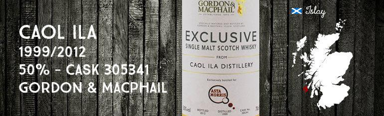 Caol Ila – 1999/2012 – 50% – Cask 305341- Gordon & MacPhail pour Asta Morris