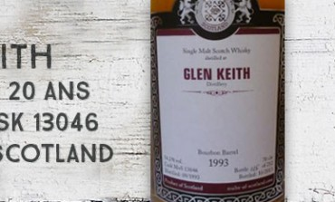 Glen Keith - 1993/2013 - 20yo - 54,2% - Cask 13046 - Malts Of Scotland
