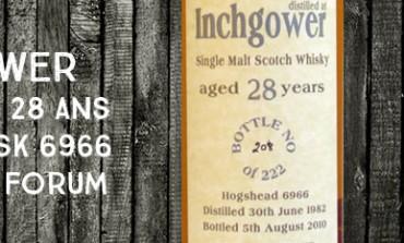 Inchgower - 1982/2010 - 28yo - 50,7% - Cask 6966 - Bladnoch Forum