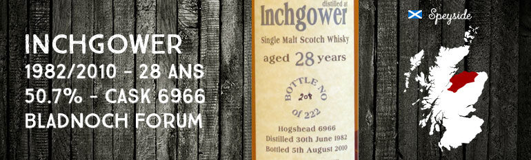 Inchgower – 1982/2010 – 28yo – 50,7% – Cask 6966 – Bladnoch Forum