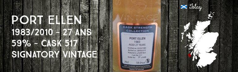 Port Ellen – 1983/2010 – 59% – Cask 517 – Signatory Vintage