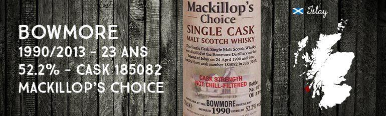 Bowmore – 1990/2013 – 23yo – 52,2% – Cask 185082 – MacKillop's Choice