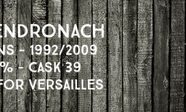 Glendronach - 16 yo - 1992/2009 - 60.8% - Cask 39 - OB for Versailles