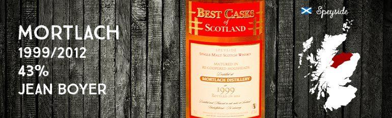 Mortlach – 1999/2012 – 43% – Jean Boyer Best Casks of Scotland