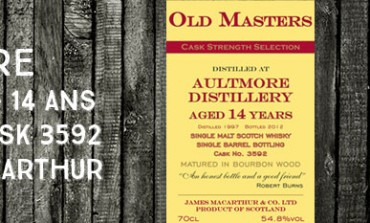 Aultmore - 1997/2012 - 14yo - 54,8% - Cask  3592 -  James MacArthur Old Masters