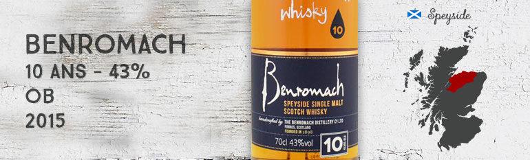 Benromach – 10yo – 43% – OB – 2015