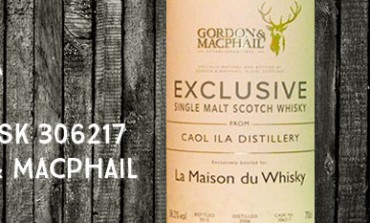 Caol Ila - 2006/2015 - 58,2% - Cask 306217- Gordon & MacPhail Exclusive for La Maison du Whisky