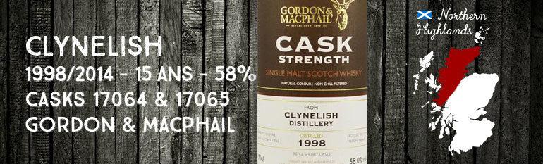 Clynelish – 1998/2014 – 15yo – 58% – Casks 17064+17065 – Gordon & MacPhail Cask Strength Collection