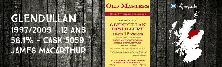 Glendullan – 1997/2009 – 12yo – 56,1% – Cask  5059 –  James MacArthur Old Masters