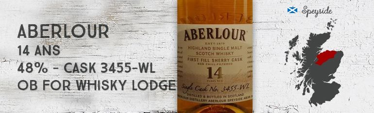 Aberlour – 14yo – 48% – Cask 3455-WL – OB For The Whisky Lodge