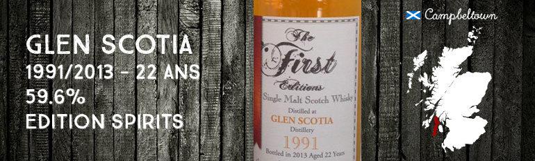Glen Scotia – 1991/2013 – 22yo – 59,6% – Edition Spirits The First Edition