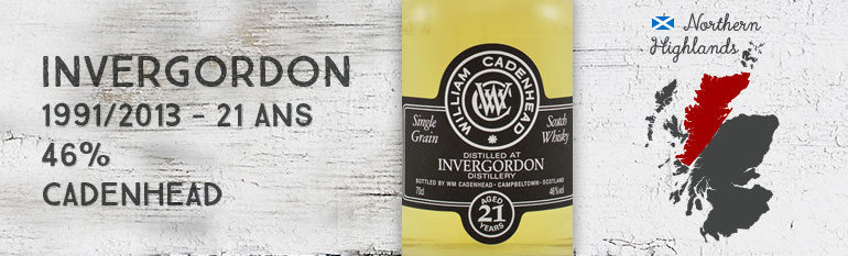 Invergordon – 1991/2013 – 21yo – 46% – Cadenhead Black Label