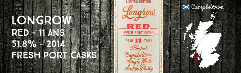 Longrow – Red – 11yo – Port Casks – 51,8% – OB – 2014