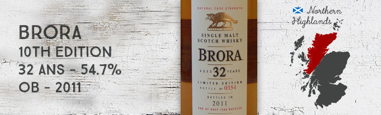 Brora – 32yo – 54,7% – 10th Edition – OB – 2011