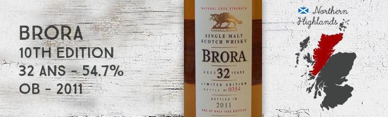 Brora – 32yo – 54,7% – 10th Edition – OB – 2011