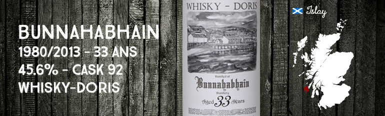 Bunnahabhain – 1980/2013 – 33yo – 45,6% – Cask 92 – Whisky-Doris
