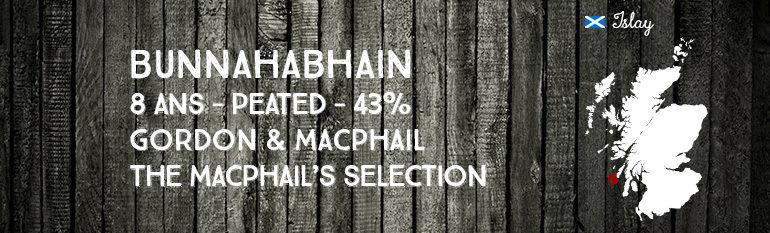 Bunnahabhain – 8yo – peated – 43 % – Gordon & MacPhail – MacPhails Selection – 2015