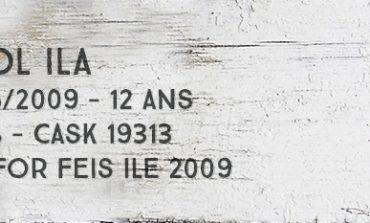 Caol Ila - 1996/2009 - 12yo - 58% - Cask 19313 -  OB for Feis Ile 2009