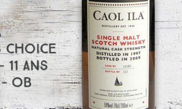 Caol Ila - Manager's Choice - 1997/2009 - 11yo - 58% - Cask 14185 - OB