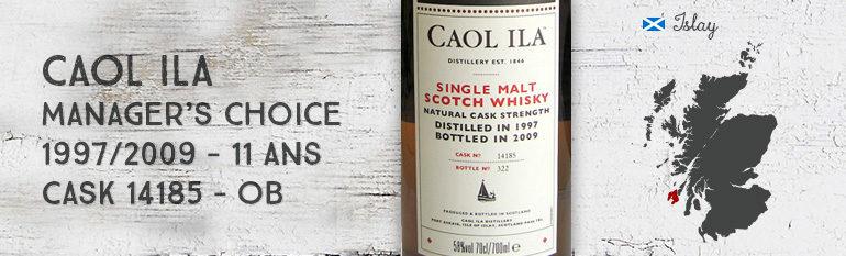 Caol Ila – Manager's Choice – 1997/2009 – 11yo – 58% – Cask 14185 – OB