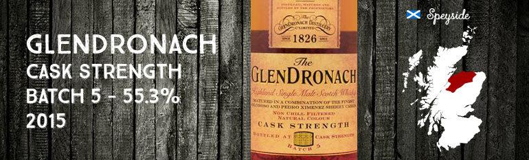 Glendronach – Cask Strength – batch 5 – 55,3% – OB – 2015