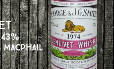 Glenlivet - 1974/2011 - 43% - Gordon & MacPhail - George & J.G. Smith's