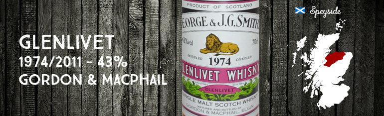 Glenlivet – 1974/2011 – 43% – Gordon & MacPhail – George & J.G. Smith's