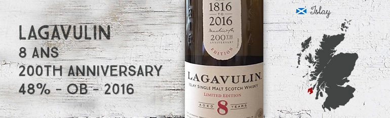 Lagavulin – 8yo – 200th anniversary – 48% – 2016