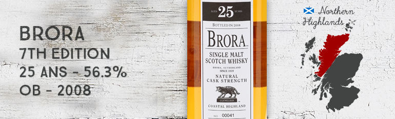 Brora – 25yo – 56.3% – 7th Edition – OB – 2008
