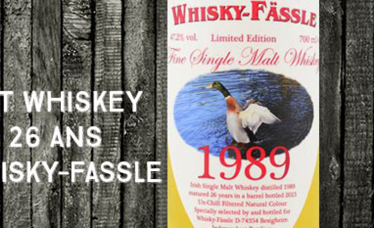 Irish Single Malt Whiskey – 1989/2015 – 26yo – 47.2 % – Whisky-Fassle